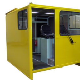 Cabin for railway work