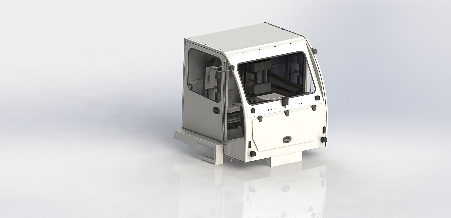 Pressurface cabin for tunnel intervention vehicle