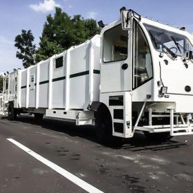 Cabine préssurisée pour véhicule d'intervention en tunnel