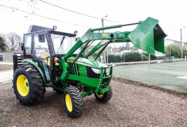 John Deere tractor cab