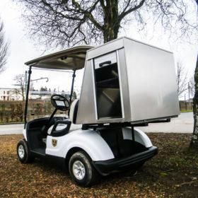 Caisson pour voiturette électrique