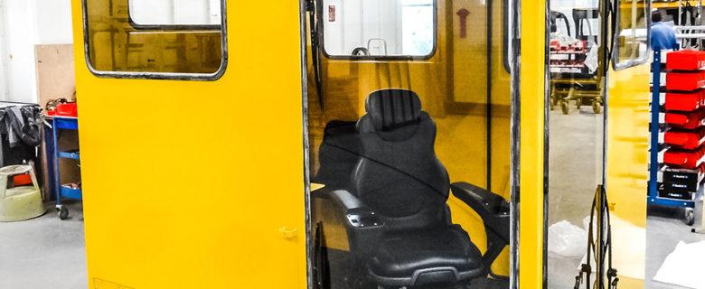 Cabine pour matériel ferroviaire